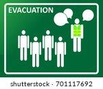 evacuation plan meeting concept.... | Shutterstock .eps vector #701117692