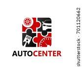 automotive center logo template ... | Shutterstock .eps vector #701120662