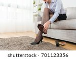 attractive young female office...   Shutterstock . vector #701123356