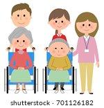 elderly women sitting in a... | Shutterstock .eps vector #701126182
