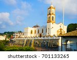 town of papantla in mexico | Shutterstock . vector #701133265