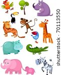animal set   Shutterstock .eps vector #70113550