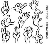vector hands | Shutterstock .eps vector #70113583