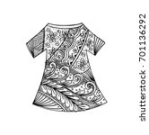 shirt with ornament decorative. | Shutterstock .eps vector #701136292