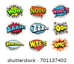 comic book shouting expression... | Shutterstock .eps vector #701137402