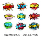 comic book shouting expression... | Shutterstock .eps vector #701137405