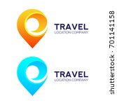abstract logo design travel...   Shutterstock .eps vector #701141158