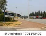 crossing into canada   border...   Shutterstock . vector #701143402