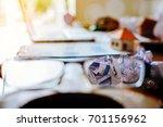 crumpled sheet of paper to... | Shutterstock . vector #701156962