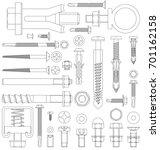 outline diagram of various... | Shutterstock .eps vector #701162158