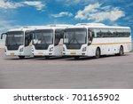 big tourist buses on parking | Shutterstock . vector #701165902