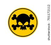 danger poison sign yellow.... | Shutterstock . vector #701172112