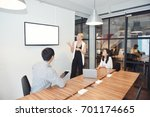 business blonde woman... | Shutterstock . vector #701174665