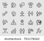 business human concept line icon | Shutterstock .eps vector #701178262