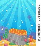 sea vector background. ocean... | Shutterstock .eps vector #701186092