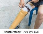 new aluminium prostheses legs... | Shutterstock . vector #701191168