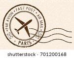 Postal Stamp  Round Brown...
