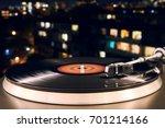 turntable vinyl record player... | Shutterstock . vector #701214166