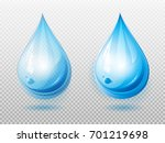 water drop. two variants of a... | Shutterstock .eps vector #701219698