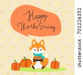 happy thanks giving with little ... | Shutterstock .eps vector #701226352