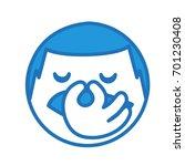dissatisfied emoticon pinches... | Shutterstock .eps vector #701230408