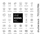 line icons set. cinema pack.... | Shutterstock .eps vector #701231986