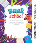 back to school poster with... | Shutterstock .eps vector #701232016