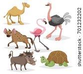 African Animals Cartoon Set....