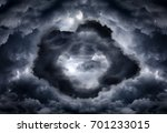 tunnel in the dark and dramatic ... | Shutterstock . vector #701233015