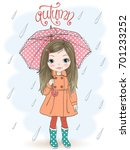 hand drawn beautiful cute... | Shutterstock .eps vector #701233252