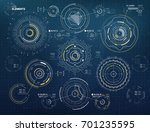 circular vector elements set...