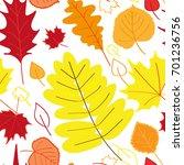 leaves seamless pattern | Shutterstock . vector #701236756