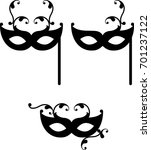 carnival mask icon vector...