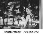 beautiful serious european...   Shutterstock . vector #701255392