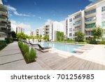 modern residential buildings... | Shutterstock . vector #701256985