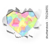 Heart shape paper - stock photo
