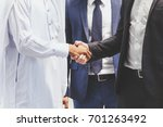 successful businessmen... | Shutterstock . vector #701263492
