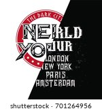 vector rock world tour | Shutterstock .eps vector #701264956