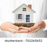 mortgage concept by house from... | Shutterstock . vector #701265652