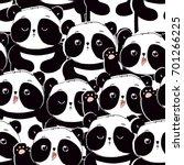 pattern panda bear  | Shutterstock .eps vector #701266225