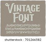 classic vintage decorative font ... | Shutterstock .eps vector #701266582