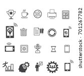 business icons set icons for... | Shutterstock .eps vector #701267782