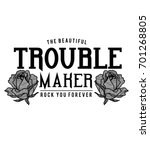 trouble maker rock | Shutterstock .eps vector #701268805