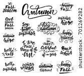 autumn lettering set. vector... | Shutterstock .eps vector #701269282