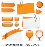 fresh set of orange glossy... | Shutterstock .eps vector #70126978