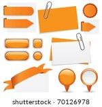 fresh set of orange glossy... | Shutterstock .eps vector #70126978