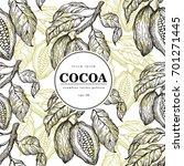 cocoa beans vector seamless... | Shutterstock .eps vector #701271445