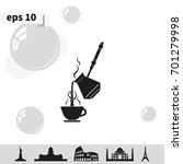 turkish coffee illustration....   Shutterstock .eps vector #701279998