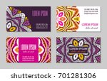 embroidery style colorful... | Shutterstock .eps vector #701281306