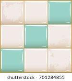 seamless vector tile. glossy... | Shutterstock .eps vector #701284855